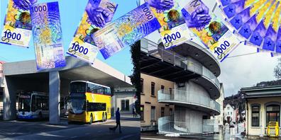 Hat man sich in St.Margrethen mit Passarelle und Busbahnhof finanziell übernommen?