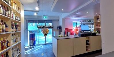 Jetzt kann man den Getränkemarkt von Metzger Getränke AG in Uzwil jederzeit virtuell besuchen.