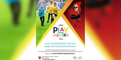 Das Konzept Uefa Playmakers bringt mit Disney-Geschichten den Mädchen das Fussballspielen näher.