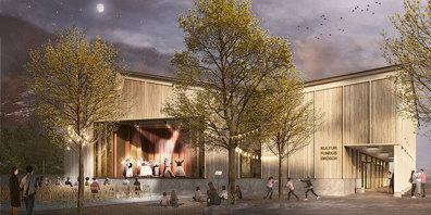 So soll sich die neue Mehrzweckhalle in rund dreieinhalb Jahren  präsentieren.