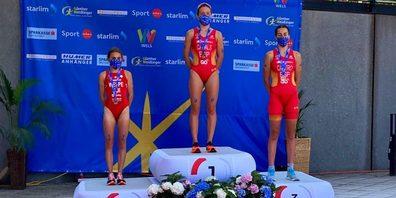 Livia Wespe (l.) verfehlte die Goldmedaille um nur 4 Sekunden.