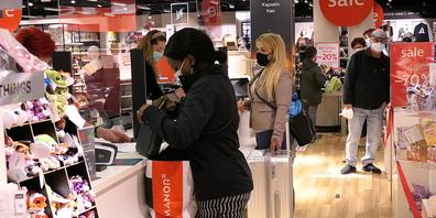 Im Einkaufszentrum «Am Markt» in Heerbrugg war eine hohe Kundenfrequenz festzustellen