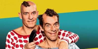 Im Kulturtreff Rotfarb in Uznach präsentiert das Comedy-Duo Oropax ihr neues Programm «Testsieger am Scheitel».