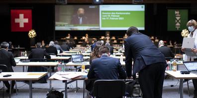 Der St.Galler Kantonsrat berät den Aufgaben- und Finanzplan für die Jahre 2022 bis 2024. (Bild: Keystone)