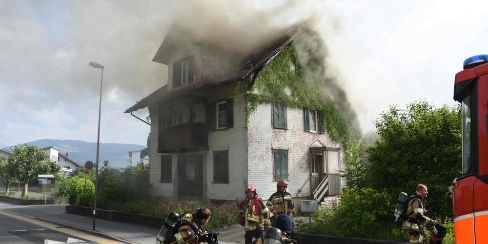 Das Haus an der Schachenstrasse wurde stark beschädigt.
