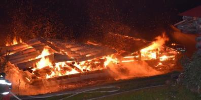 Die abgebrannten Ställe in St. Antönien GR wurden als Lagerräume genutzt.