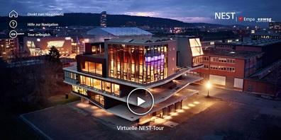 """Jetzt kann man das """"Forschungs- und Innovationsgebäude NEST"""" der EMPA auch virtuell besuchen."""