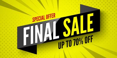 """Der Coronalockdown verursacht bei einigen Geschäften einen """"Finale Sale"""" am Freitag und Samstag (Symbolbild: Shutterstock)"""