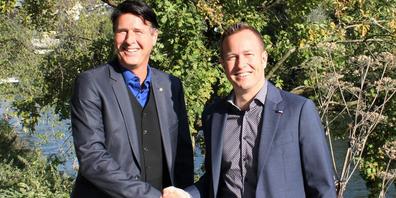Reto Bossard (rechts)  mit OBT-Verwaltungsratspräsident Reto Schaffner