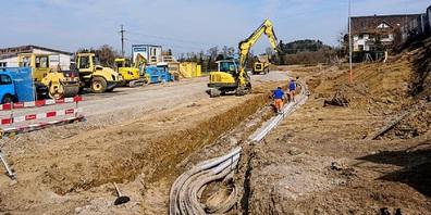 Im April wurden bereits die ersten Leitungen gelegt.