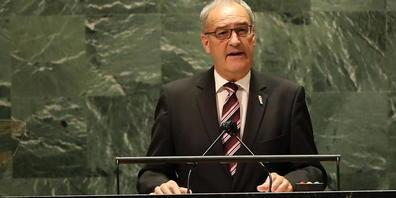 Bundespräsident Guy Parmelin setzt sich für eine nachhaltige Entwicklung in der Landwirtschaft ein.