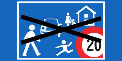 Keine Begegnungszone Tempo 20 im Gebiet Robenhausen (Symbolbild)