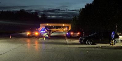 Südumfahrung und Autobahnausfahrt in Dürnten mussten wegen einem Unfall gesperrt werden.