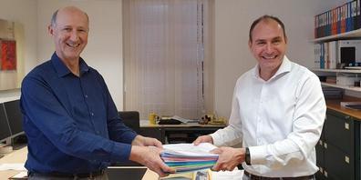 Rechts: Hans-Peter Eisenring, Links: Raffael Gemperle