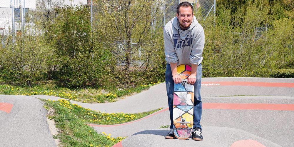 Simeon Frei freut sich darauf, der nächsten Generation das Skaten beizubringen.