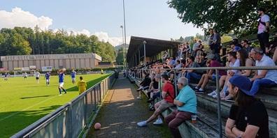 Das Derby und schönes Wetter sorgten für einen grossen Zuschaueraufmarsch im Stadion Buechenwald.