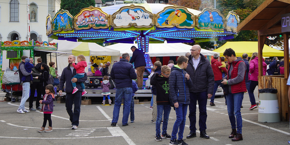 Von Freitag bis Samstag war in Wollerau Chilbi angesagt. Trotz kühler Temperaturen genossen  die Wollerauerinnen und Wollerauer das Dorffest in kleinerem Rahmen.
