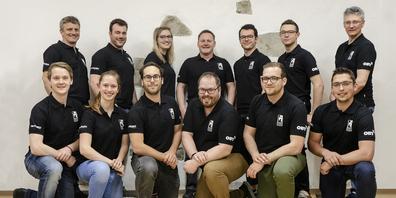 Das OK des organisierenden STV Wollerau-Bäch ist bereit für die Meisterschaft.