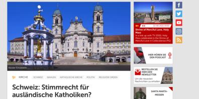 Die bevorstehende Abstimmung zum Ausländerstimmrecht bei den Schwyzer Katholiken zieht ihre Kreise bis nach Rom.