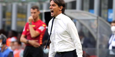 Inters Trainer Simone Inzaghi ärgert sich