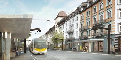 Bauarbeiten an der Bahnhofstrasse
