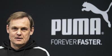 Der Sportartikel-Hersteller Puma kämpft erfolgreich gegen coronabedingte Lieferschwierigkeiten und Produktionsausfälle. Im Bild: CEO Bjorn Gulden (Archivbild)