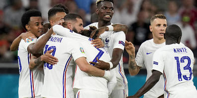 Karim Benzema schoss beide Tore zum 2:2 gegen Portugal