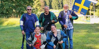 Hanspeter Meier, Walter Widmaier, Kaspar Hartmann, Désirée Hartmann und Mirjam Engelhardt.