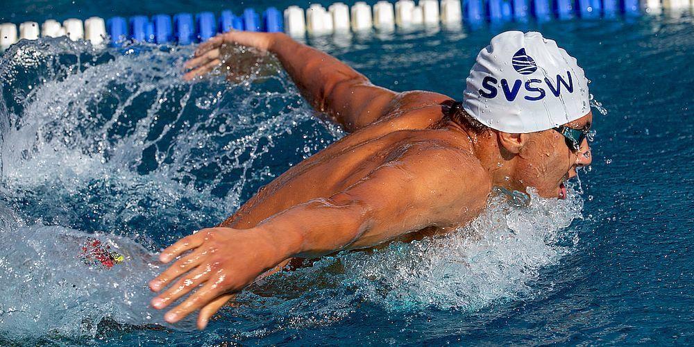 Den Höhepunkt aber bildeten die Finalteilnahmen des 15jährigen Rocco Laguardia 1500m Freistil und der 14jährigen Janine Schelling über 100m Brust.