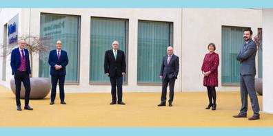 Der Verwaltungsrat der Clientis Bank Oberuzwil, v.l.n.r.: Dr. Dieter Wepf, Dr. Ralph Wyss, Ernst Dobler, Dr. Heinz Güttinger, Dr. Barbara Lorenz (VR-Präsidentin) und Thomas Mesmer.