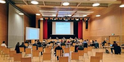 Die Sitzung des Gossauer Stadtparlaments am 28. September 2021.
