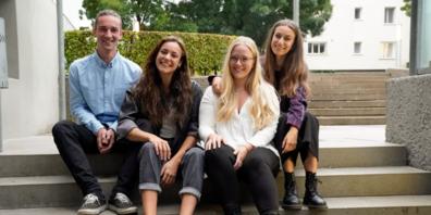 v.l.n.r.: Till Stieger, Sina Stieger, Sarah Willeit, Dania Perrino