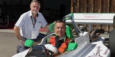 OK-Präsident Erwin Steingruber (re.) wird wieder mit seinem alten Formel 2 March-BMW teilnehmen