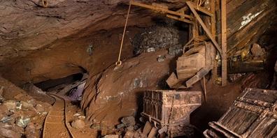 Hier schufteten die Arbeiter und brachen das Erz aus dem Fels