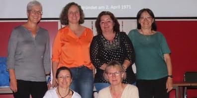 Hinten von links: Carolina Hiltbrunner, Brigitte Hohl, Nicole Bischof, Cony Künzler. Vorne von links: Bianca Züst, Ursula Richner