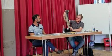 Philipp Langenegger (Präsident Betriebsverein Stuhlfabrik) und Benjamin Heutschi (Leiter Geschäftsstelle).