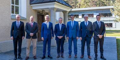 Bündner Regierung mit Bundesrat Ignazio Cassis