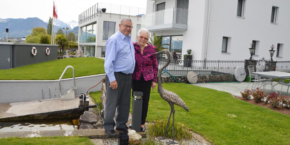 Die beiden 89-jährigen Eheleute feiern heute das eiserne Hochzeit. «Es ist alles vorhanden, was wir zum Glück brauchen.»