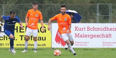 Der FC Diepoldsau, hier mit Esmir Shajnoski am Ball, war nur zeitweise die spielbestimmende Mannschaft
