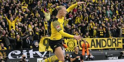 Kaum von seiner Verletzung genesen, trifft Dortmunds Stürmer Erling Haaland wieder doppelt