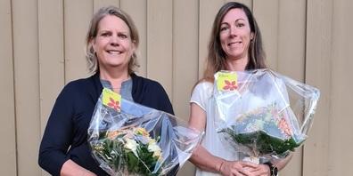 Die beiden neugewählten Vorstandsmitglieder (links Andrea Kissling, rechts Sabine  Plank).