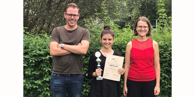 Sheila Grätzer (Mitte) wurde am Wettbewerb von Pianistin Sharon Mazzoletti und KSA-Talentcoach Dominik Hüppin begleitet.