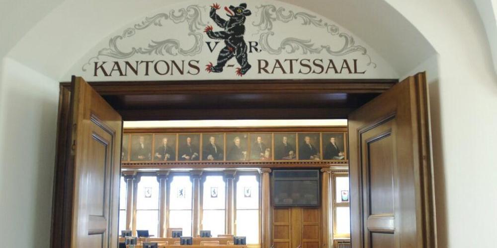 Blick in den Ausserrhoder Kantonsratssaal im Regierungsgebäude in Herisau. (Archivbild)