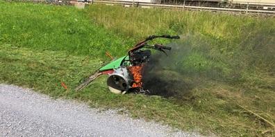 Am Motormäher entstand Sachschaden von rund 1'000 Franken.