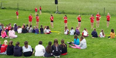 Die rund 80 Mädchen hatten viel Spass.
