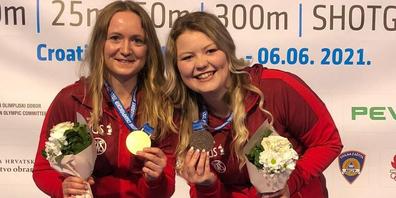 Die Galgenerin Muriel Züger (l.) holt Gold, mit Anja Senti (Bronze) holt die Schweiz eine zweite Medaille.