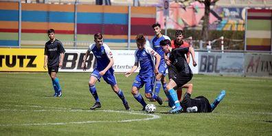 Eine Szene vom Junior League B-Spiel zwischen dem FC Gossau und dem FC Rorschach-Goldach 17.