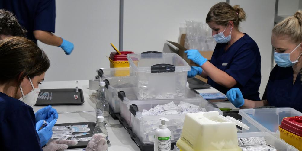 Im St.Galler Impfzentrum laufen die Vorbereitungen auf Hochtouren.
