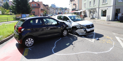 Fürstenlandstrasse: Der 46-Jährige missachtete das Verkehrsschild und krachte in ein anderes Auto