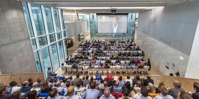 Aula des CUBIC Innovation Campus bei Bühler AG
